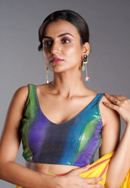 HAND PAINTED MULTI COLOR SEQUIN BLOUSE